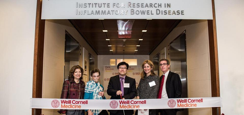 Jill Roberts Institute ribbon cutting